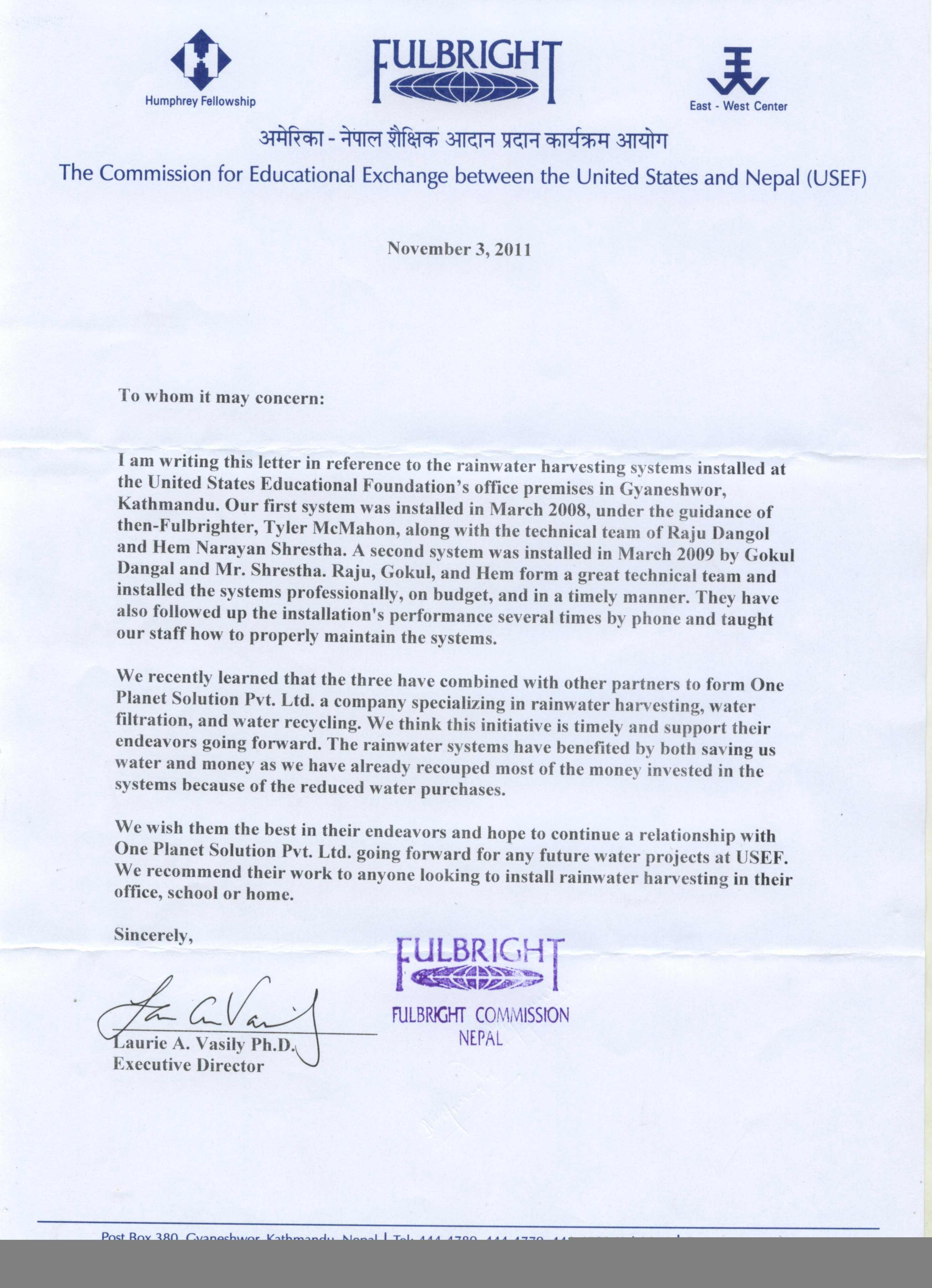 fulbright letter of recommendation sample   Hadi.palmex.co