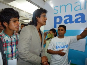 Rajesh Himal at the SmartPaani Stall