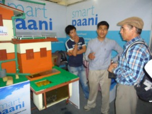 Hem Narayan Shrestha Explaining SmartPaani